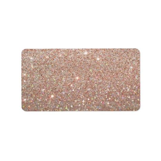 Etiqueta de encargo - oro color de rosa Glit Etiqueta De Dirección