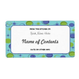 Etiqueta de enlatado moderna del tarro de los etiqueta de envío
