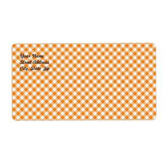 Etiqueta de envío anaranjada del fondo de la guing