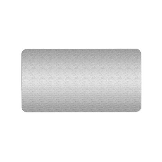 Etiqueta de envío de plata suave de la dirección