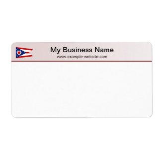 Etiqueta de envío del jefe de la bandera de Ohio