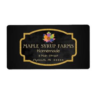Etiqueta de envío del negocio del jarabe de arce