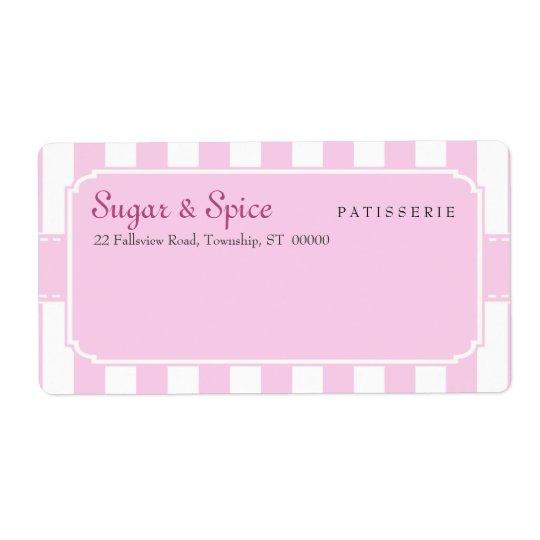 Etiqueta de envío en colores pastel del Patisserie