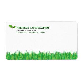 Etiqueta de envío herbosa del paisaje
