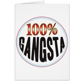 Etiqueta de Gangsta Tarjeton