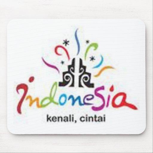 etiqueta de Indonesia Alfombrillas De Raton