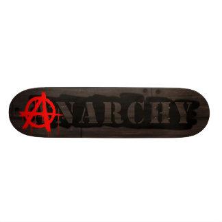 Etiqueta de la anarquía patineta personalizada