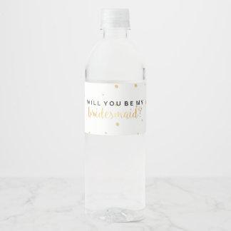 Etiqueta de la bebida de los puntos del oro -