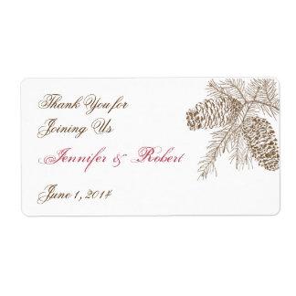 Etiqueta de la botella de agua del boda de la etiquetas de envío