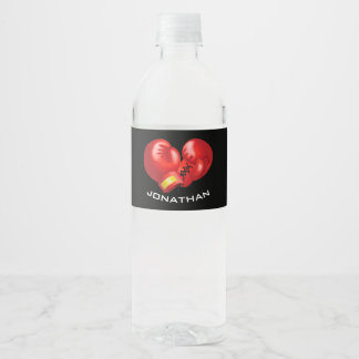 Etiqueta de la botella de agua del diseño de los