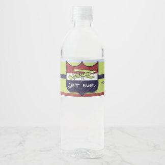 Etiqueta de la botella de agua del fiesta del