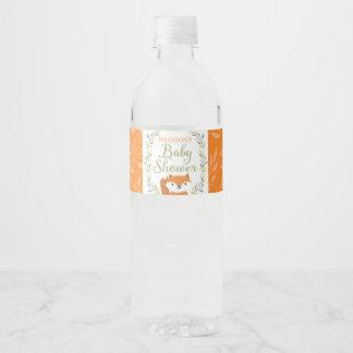 Etiqueta de la botella de agua del Fox del bosque