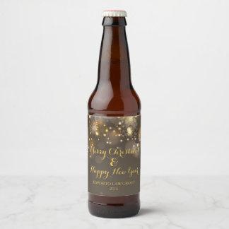 Etiqueta de la botella de cerveza de Bokeh del