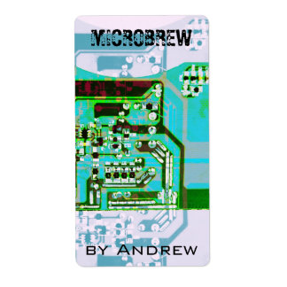 etiqueta de la botella de cerveza del microbrew etiqueta de envío