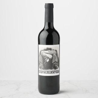 """Etiqueta de la botella de vino (4"""" x 3,5"""")"""