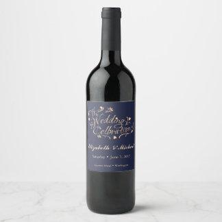 Etiqueta de la botella de vino de la marina de
