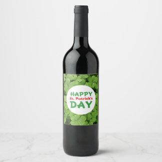 Etiqueta de la botella de vino del día de St