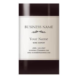 Etiqueta de la botella de vino tarjetas de visita