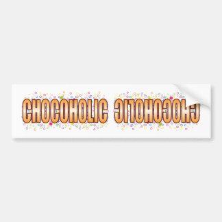 Etiqueta de la burbuja de Chocoholic Pegatina Para Coche