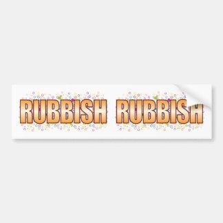 Etiqueta de la burbuja de los desperdicios pegatina para coche
