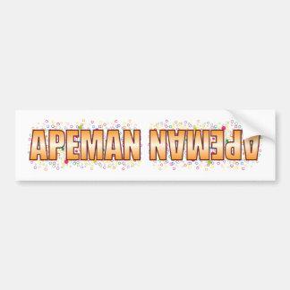 Etiqueta de la burbuja del Apeman Pegatina Para Coche