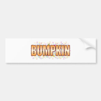Etiqueta de la burbuja del Bumpkin Pegatina Para Coche