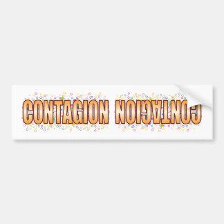 Etiqueta de la burbuja del contagio pegatina para coche