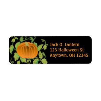 Etiqueta de la calabaza de Halloween