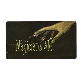 Etiqueta de la cerveza de Homebrewing del mago Etiquetas De Envío
