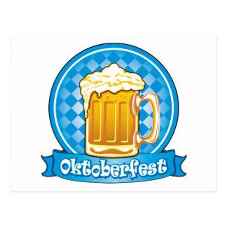 Etiqueta de la cerveza de Oktoberfest, detallada Postal