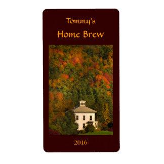 Etiqueta de la cerveza del otoño de Nueva Etiquetas De Envío