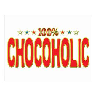 Etiqueta de la estrella de Chocoholic Postal