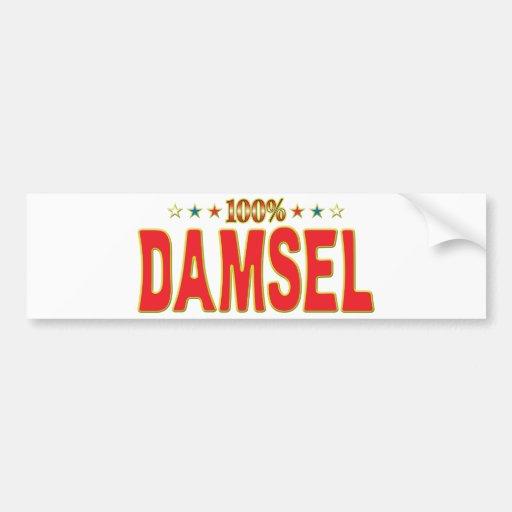 Etiqueta de la estrella de la damisela etiqueta de parachoque