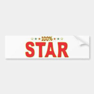 Etiqueta de la estrella de la estrella etiqueta de parachoque