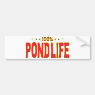 Etiqueta de la estrella de la vida de la charca pegatina de parachoque