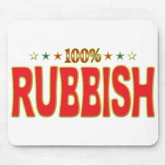 Etiqueta de la estrella de los desperdicios alfombrillas de ratones