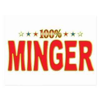 Etiqueta de la estrella de Minger Tarjeta Postal