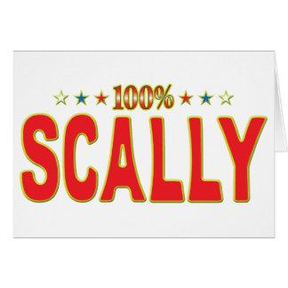 Etiqueta de la estrella de Scally Felicitación