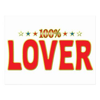Etiqueta de la estrella del amante tarjetas postales
