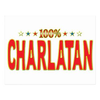 Etiqueta de la estrella del charlatán