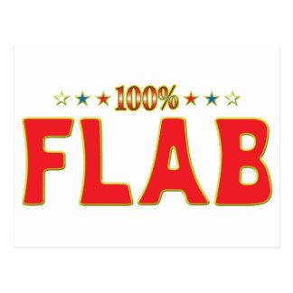 Etiqueta de la estrella del Flab Postales