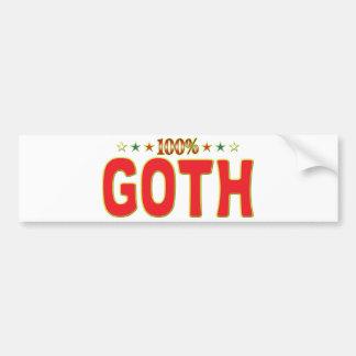 Etiqueta de la estrella del gótico etiqueta de parachoque