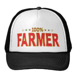 Etiqueta de la estrella del granjero gorras de camionero