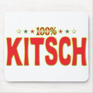 Etiqueta de la estrella del kitsch tapete de ratones