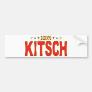 Etiqueta de la estrella del kitsch pegatina de parachoque
