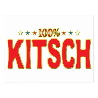 Etiqueta de la estrella del kitsch postal