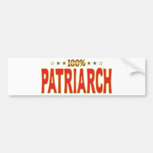 Etiqueta de la estrella del patriarca pegatina de parachoque