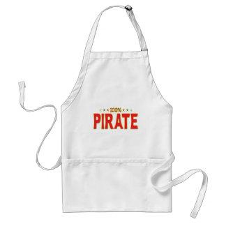 Etiqueta de la estrella del pirata delantal