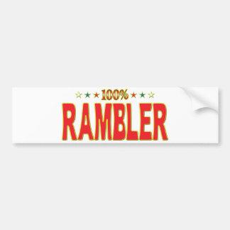 Etiqueta de la estrella del Rambler Etiqueta De Parachoque