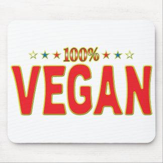 Etiqueta de la estrella del vegano alfombrillas de raton